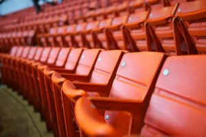 stadium, seats, orange